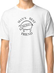 Future Bacon - round, black Classic T-Shirt
