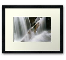 Stuck in the flow (Falls of Moness) Framed Print
