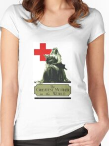 The Greatest Mother In The World -- Red Cross Women's Fitted Scoop T-Shirt