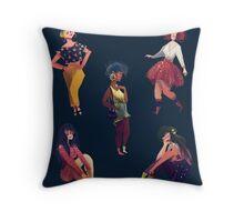 Cool Girls Throw Pillow