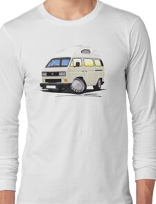 VW T25 / T3 [SQ] (High Top) White Long Sleeve T-Shirt