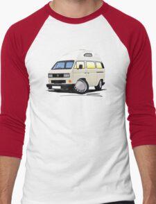 VW T25 / T3 [SQ] (High Top) White Men's Baseball ¾ T-Shirt