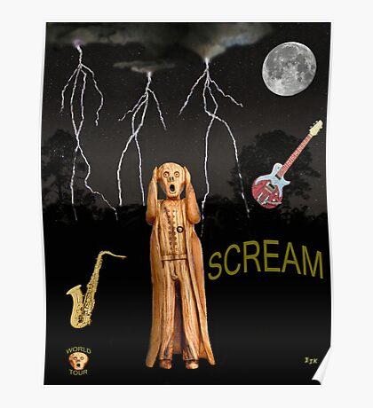 The Scream World Tour  Scream Rocks Scream Poster