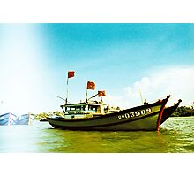 Tourist - Vietnam - Boat on the Mekong River Photographic Print