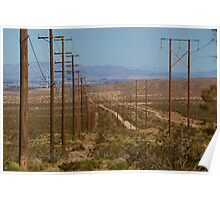Utility Pole Road  Barstow,CA. Poster