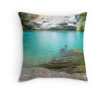 Sochi's Blue Lake Throw Pillow