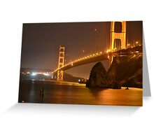 The Mighty Golden Gate Greeting Card