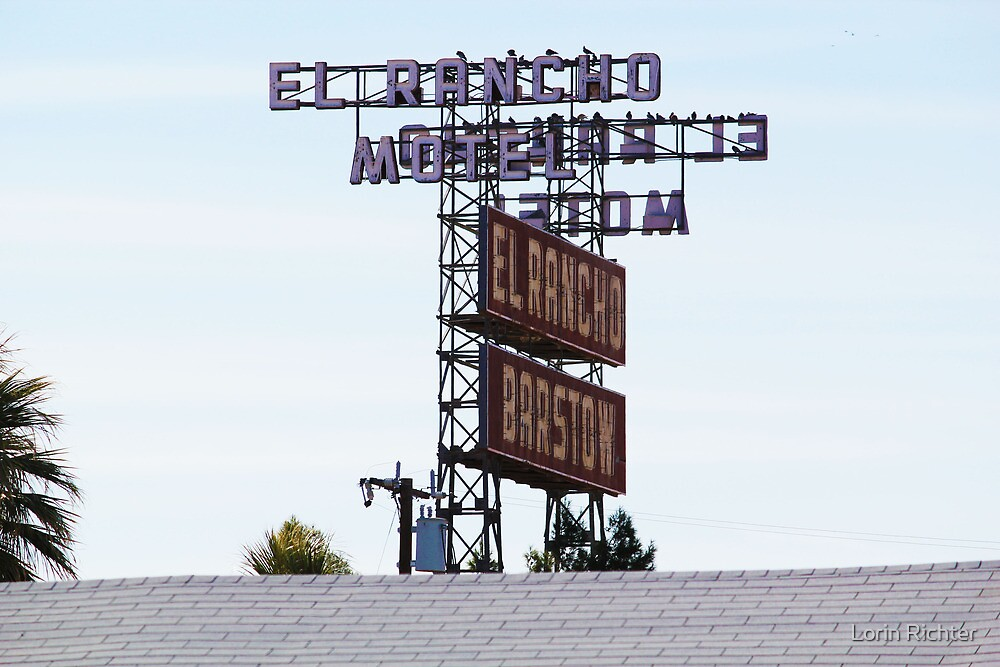 El Ranco Motel Sign on Historic Route 66 by Lorin Richter