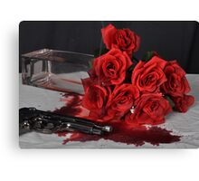 St Valentines Day Murder Canvas Print