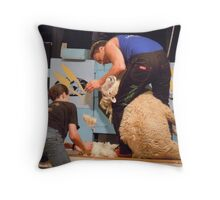 At the Golden Shears 2011 Throw Pillow