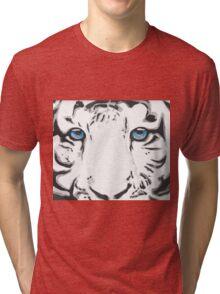 Blue Eyed White Tiger Tri-blend T-Shirt