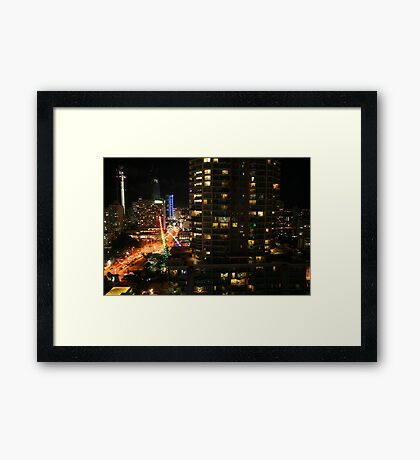 Surfers Paradise on a Saturday Night Framed Print
