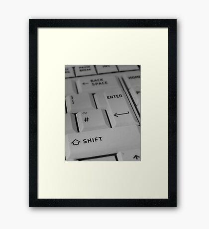 Laptop Keyboard Framed Print