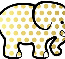 Gold Elephant by Annie  Deaderick