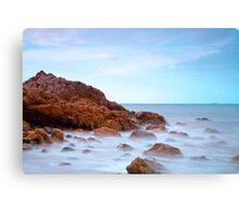 Misty Rocks Canvas Print