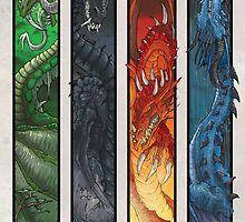 Elemental Dragons by drakhenliche