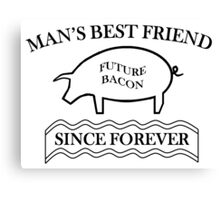 Future Bacon - black design Canvas Print