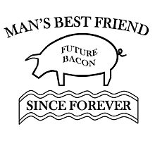 Future Bacon - black design Photographic Print