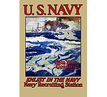 Help Your Country! Enlist In The Navy Photographic Print