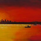 Sydney harbour from Watson's Bay by Jenny Urquhart