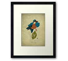 Indigo kingfisher's hope Framed Print