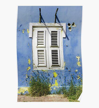 Bonaire - Shuttered Window Poster