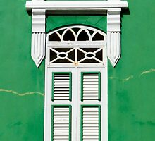 Bonaire - Green Window by julieelucas