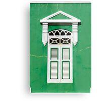 Bonaire - Green Window Metal Print