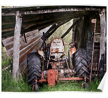 Aussie Tractor Shed.....let down your umbrella Poster