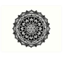 """Valeria"" Sacred Geometry Mandala Art Print"