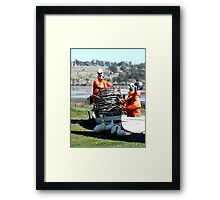 I think the tide has gone out. Framed Print