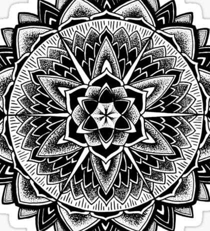 """""""Paradise Could Paralyse"""" Sacred Geometry Mandala Sticker"""