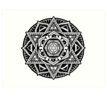 """The Gate"" Sacred Geometry Mandala Art Print"