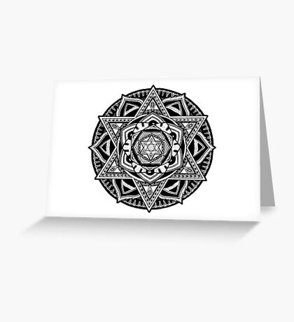 """The Gate"" Sacred Geometry Mandala Greeting Card"