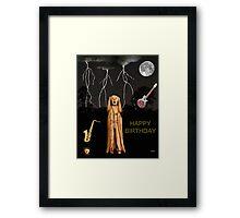 The Scream World Tour  Scream Rocks Happy Birthday Framed Print