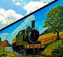 The Tivvy Bumper mural. Tiverton, Devon, UK by buttonpresser