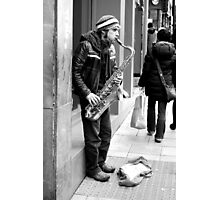 Busking 4 Photographic Print