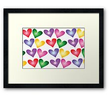 Handful of heart Framed Print