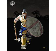 Spartan Warrior Charge Photographic Print