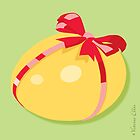 Easter Egg With Red Ribbon by Victoria Ellis