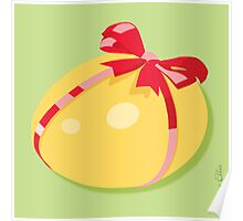 Easter Egg With Red Ribbon Poster