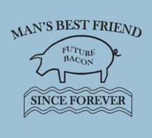 Future Bacon - black design Kids Tee