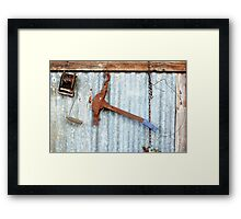 Fence Strainer Framed Print
