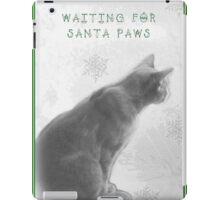 Christmas Pet Greeting Card - Waiting For Santa Paws iPad Case/Skin