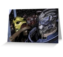 My Beautiful Boys Mass Effect Greeting Card