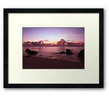 Aitutaki Sunset Framed Print