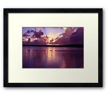 Sunset at Samade's Framed Print