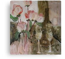 Celebrate with champagne Canvas Print