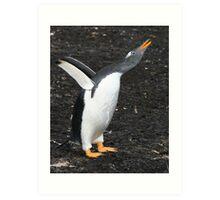 Gentoo Penguin - Something to Say! Art Print