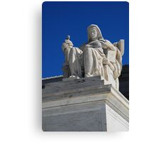 Statue at the Supreme Court in Warshington Canvas Print